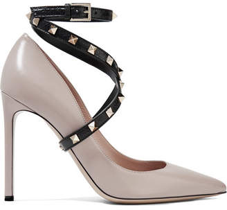 Valentino Garavani Studwrap Leather Pumps - Blush