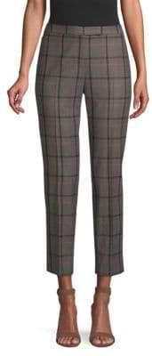 Peserico Plaid Wool Ankle Pants