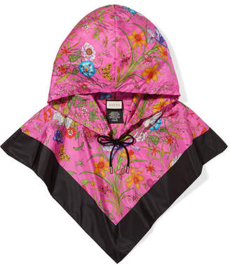 Gucci Floral-print Shell Hood - Pink