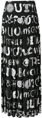Moschino letter print maxi skirt