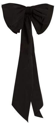 Dovima Paris - Romy Bow Embellished Taffeta Belt - Womens - Black