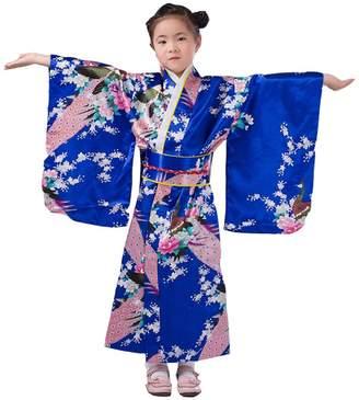 Ez-sofei Girls Japanese Traditional Floral Kimono 140