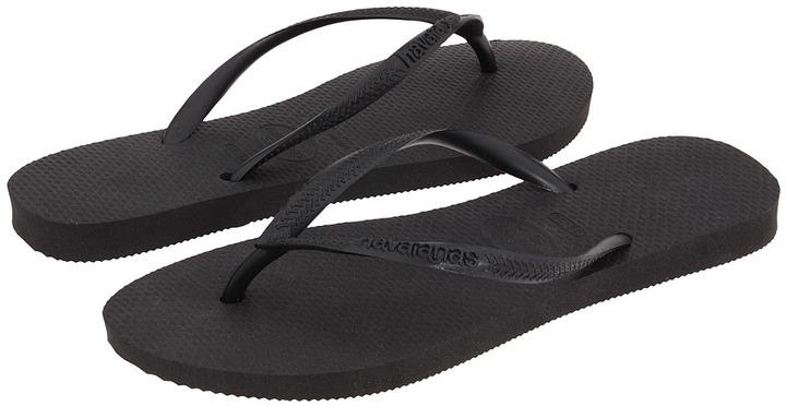 Havaianas - Slim Flip Flops (Black) - Footwear