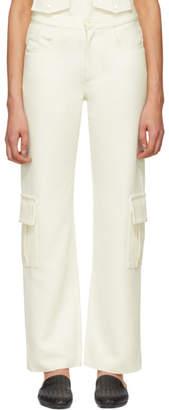 Wales Bonner White Wool Cargo Pants