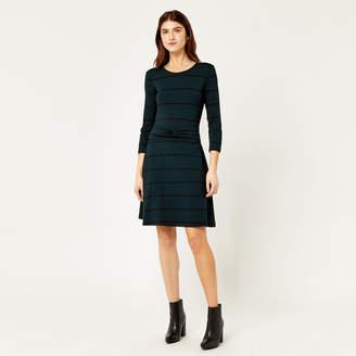 Warehouse Stripe Twist Belt Dress