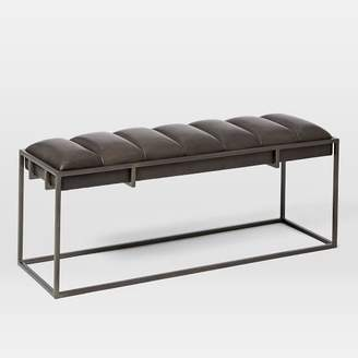 west elm Fontanne Leather Bench