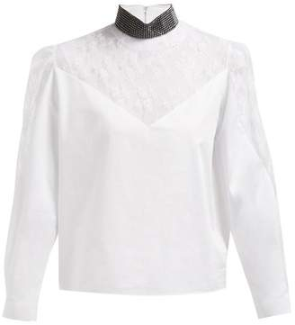 a54becaa Womens White Lace Blouse - ShopStyle UK