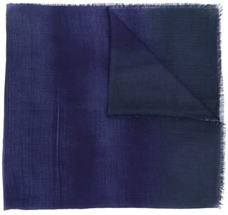 Lanvin faded raw edge scarf