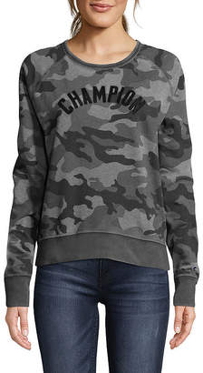 Champion Heritage Vintage Long Sleeve Round Neck Camouflage T-Shirt-Womens