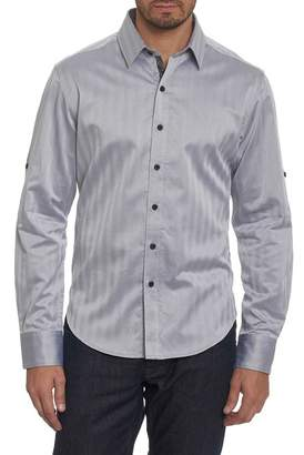 Robert Graham Canton Classic Fit Herringbone Sport Shirt