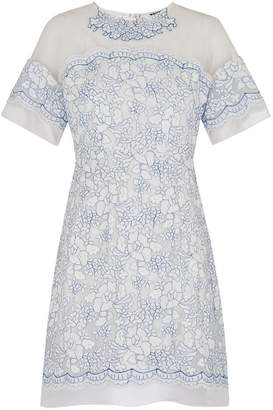 Whistles Avril Lace Fluted Sleeve Dress
