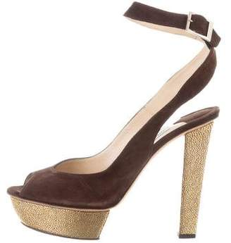 Jimmy Choo Suede Wrap-Around Pumps
