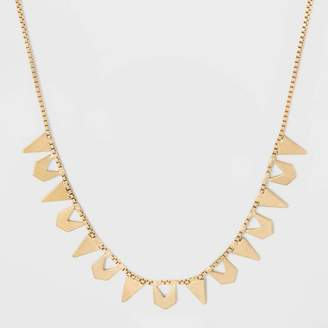 Universal Thread Chevron and Triangle Frontal Necklace Gold