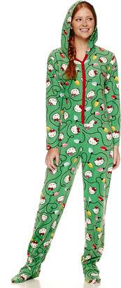 Hello Kitty Long Sleeve Footed Pajamas-Juniors $24.99 thestylecure.com
