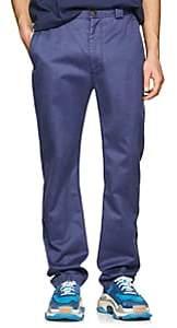 Acne Studios Men's Muray Sat Cotton-Blend Chinos - Blue
