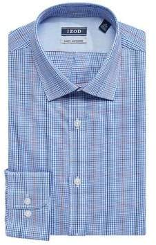 Izod Slim Fit Plaid Cotton Twill Dress Shirt