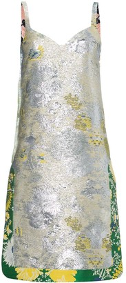 Rochas Metallic jacquard dress