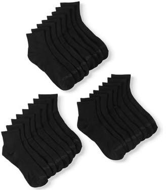 AND 1 AND1 Men's Lightweight Quarter Cut Performance Socks, 12-Pack