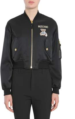 Moschino Satin Bomber Jacket