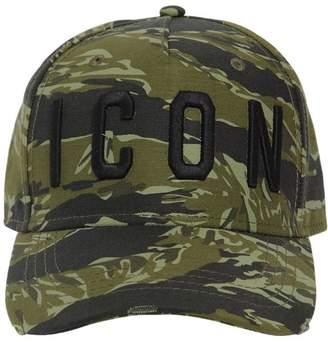DSQUARED2 Icon Camo Cotton Canvas Baseball Hat