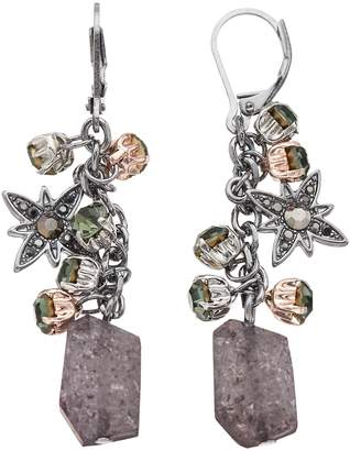 Vera Wang Simply Vera Beaded Cluster Drop Earrings