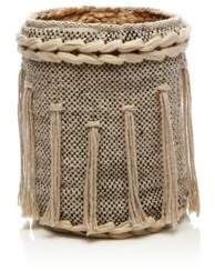 Britannica Hand-Woven Jute-Detail Cotton Basket, Small - 100% Exclusive