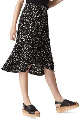 Whistles Daisy Print Wrap Skirt