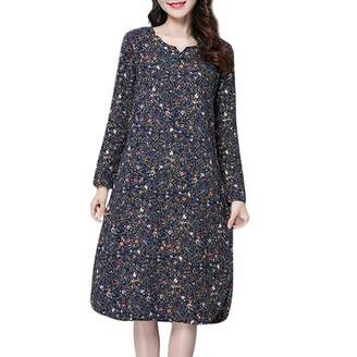 OCEAN-STORE Dress for Women Skirts with Pockets for Women Cotton Dresses for Women Casual Summer Dresses for Wedding Guest Women Dresses for Women Casual Summer Prime Long Dresses for Women
