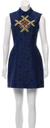 Mary Katrantzou Jacquard Mini Dress black Jacquard Mini Dress