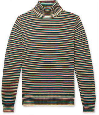Sandro Striped Cotton Rollneck Sweater