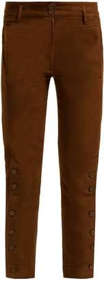 Ann Demeulemeester Button linen and cotton-blend trousers