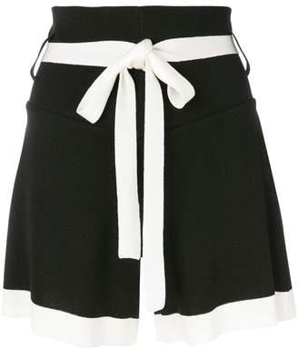 Eudon Choi contrast fitted shorts