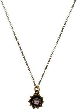 Isabel Marant Resin-Accented Lotus Pendant Necklace