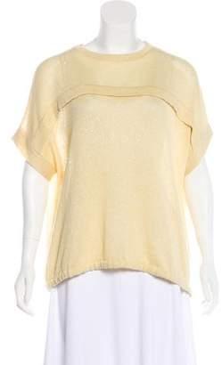 Brunello Cucinelli Short Sleeve Knit Sweatshirt