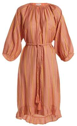 Apiece Apart Ilia Striped Cotton Blend Dress - Womens - Nude Multi