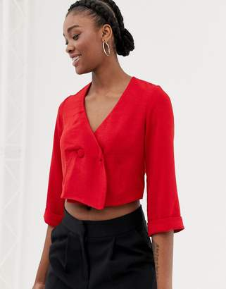 New Look shirt with buttons in red