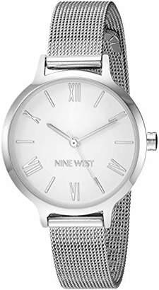 Nine West Women's NW/2229SVSV -Tone Mesh Bracelet Watch