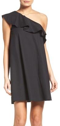 Women's Nsr One-Shoulder Ruffle Dress $72 thestylecure.com