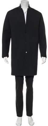 Balenciaga Neoprene Notch-Lapel Coat