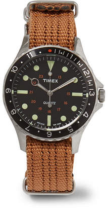Timex Navi Harbor Stainless Steel and Nylon-Webbing Watch - Brown