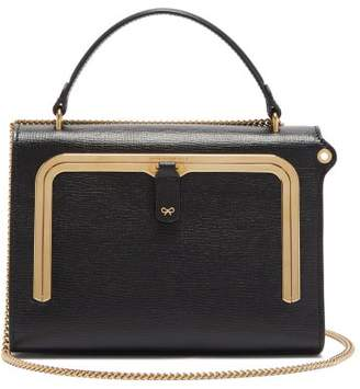 Anya Hindmarch Postbox Small Grained Leather Cross Body Bag - Womens - Black