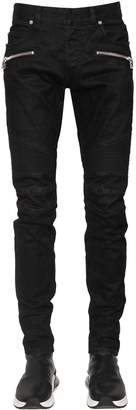 Balmain 16.5cm Monogram Tapered Stonewash Jeans