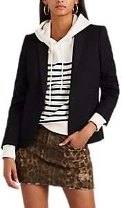 Saint Laurent Women's Wool Canvas One-Button Blazer - Black