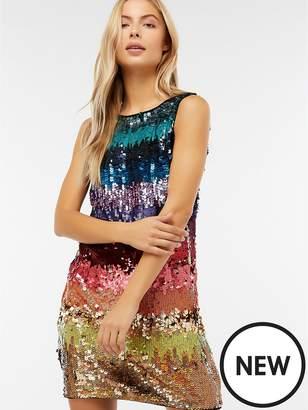 Monsoon Sonique Rainbow Sequin Tunic Dress - Multi