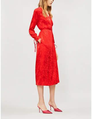KITRI Oldie silk-blend wrap dress