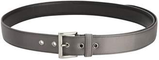 Prada Grey Leather Belt