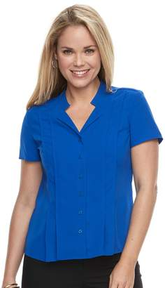 Dana Buchman Petite Trapunto Short Sleeve Top