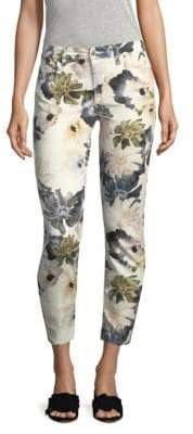 7 For All Mankind Garden Floral Cropped Jeans
