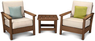 Polywood Harbour 3-Pc Deep-Seating Set - Beige
