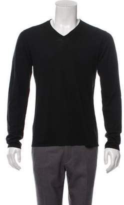 John Varvatos Wool-Blend V-Neck Sweater